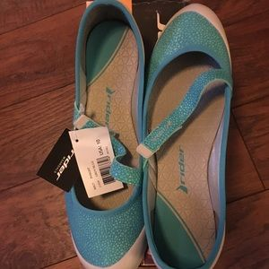 Rider Sky Blue Strappy Flats NEW!